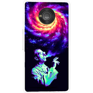 Snooky Printed Universe Mobile Back Cover For Micromax Yu Yuphoria - Multicolour