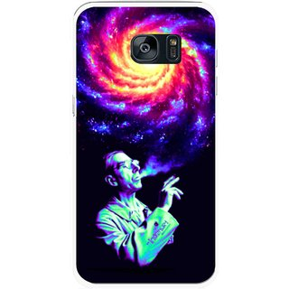 Snooky Printed Universe Mobile Back Cover For Samsung Galaxy S7 Edge - Multicolour