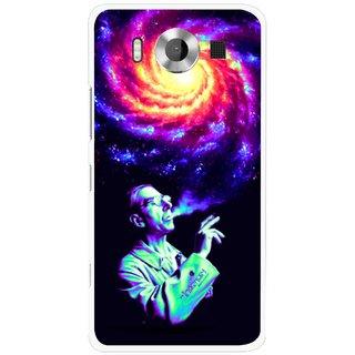 Snooky Printed Universe Mobile Back Cover For Microsoft Lumia 950 - Multicolour