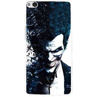 Snooky Printed Freaking Joker Mobile Back Cover For Gionee Elife E6 - Black