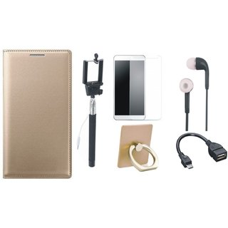 Samsung J7 Max ( SM-G615F ) Stylish Cover with Ring Stand Holder, Free Selfie Stick, Tempered Glass, Earphones and OTG Cable