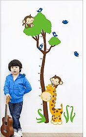 EJA Art Measure Your Height Covering Area 160 x 80 Cms Multi Color Sticker