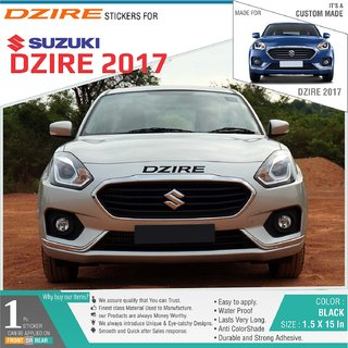 Buy Dzire Sticker For Maruti Suzuki Dzire 2017 Black 1pcs