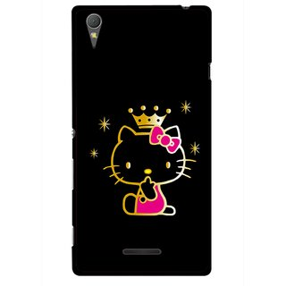 Snooky Printed Princess Kitty Mobile Back Cover For Sony Xperia T3 - Multicolour