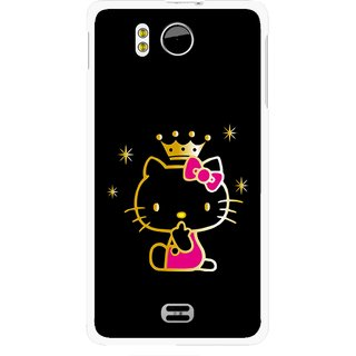 Snooky Printed Princess Kitty Mobile Back Cover For Micromax Canvas DOODLE A111 - Multicolour