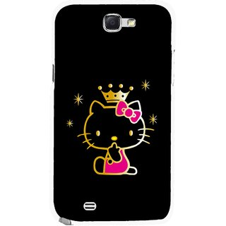 Snooky Printed Princess Kitty Mobile Back Cover For Samsung Galaxy Note 2 - Multicolour