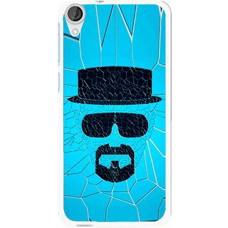 Snooky Printed Beard Man Mobile Back Cover For HTC Desire 820 - Blue