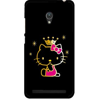Snooky Printed Princess Kitty Mobile Back Cover For Asus Zenfone Go ZC451TG - Multicolour