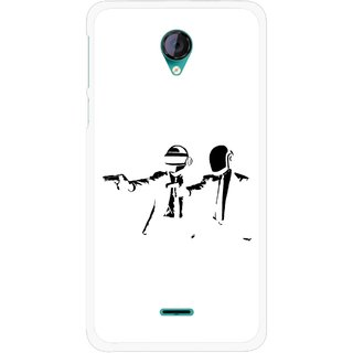 Snooky Printed Gangster Mobile Back Cover For Micromax Canvas Unite 2 - Multicolour