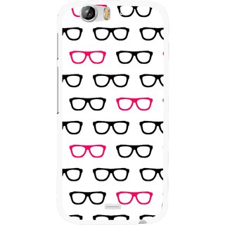 Snooky Printed Spectacles Mobile Back Cover For Micromax Canvas Turbo A250 - Multi
