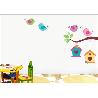 EJA Art Singing Bird with Case Wall Sticker Material  PVC Pec  1