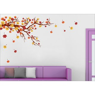 EJA Art Autaum Leaf Wall Sticker Material  PVC Pec  1