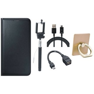 Lenovo K5 Plus Luxury Cover with Ring Stand Holder, Selfie Stick, OTG Cable and USB Cable