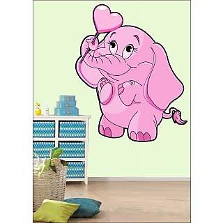 EJA Art Love Elephant Covering Area 60 x 50 Cms Multi Color Sticker