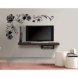 EJA Art Floral Corner Covering Area 90 x 45 Cms Multi Color Sticker