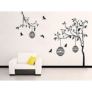 EJA Art Free Bird Case Black Covering Area 150 x 115 Cms Multi Color Sticker