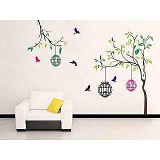 EJA Art PVC Multicolor Free Bird Case Covering Area 150 x 115 Cms - 1 Pc