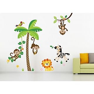 EJA Art Jungle Covering Area 150 x 120 Cms Multi Color Sticker