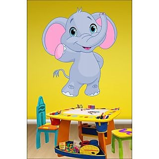 EJA Art Elephant Covering Area 60 x 50 Cms Multi Color Sticker