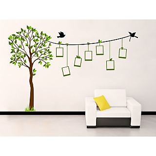 EJA Art Family Tree Covering Area 185 x 122 Cms Multi Color Sticker