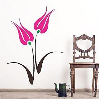 EJA Art Tulip Flower Covering Area 75 x 60 Cms Multi Color Sticker