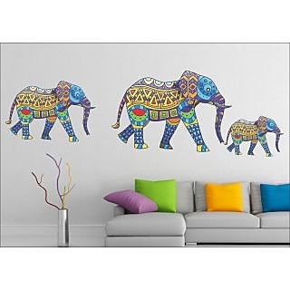 EJA Art Elephant Wall Sticker 60X20Inch Covering Area