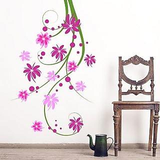 EJA Art Tulip Vine Covering Area 120 x 80 Cms Multi Color Sticker