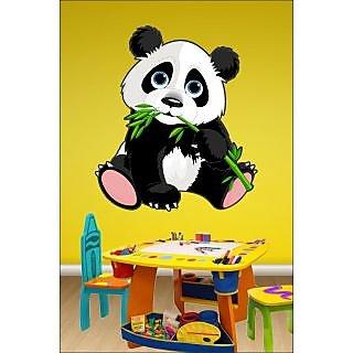EJA Art Panda Covering Area 60 x 50 Cms Multi Color Sticker