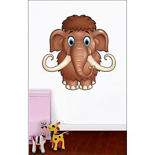 EJA Art Cute Mammoth Covering Area 60 x 60 Cms Multi Color Sticker