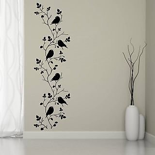 EJA Art Bird vine Covering Area 120 x 35 Cms Multi Color Sticker