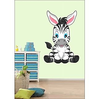 EJA Art Cute Zebra Covering Area 60 x 45 Cms Multi Color Sticker