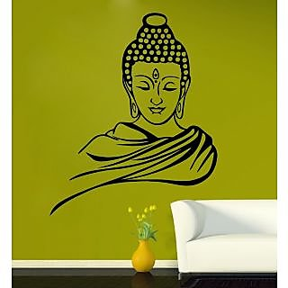 EJA Art Buddha Covering Area 75 x 60 Cms Multi Color Sticker