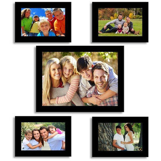 CRETE Wall Hanging Brown Photo Frame Set - Pack of 5