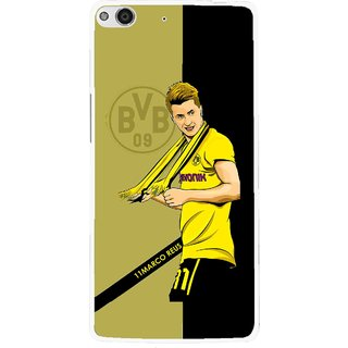 Snooky Printed Sports Player Mobile Back Cover For Gionee Elife E6 - Black