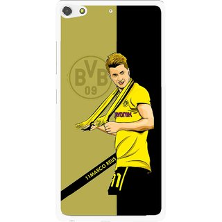 Snooky Printed Sports Player Mobile Back Cover For Gionee Elife S7 - Black