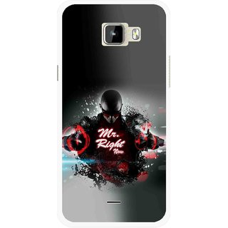 Snooky Printed Mr.Right Mobile Back Cover For Micromax Canvas Nitro A310 - Multicolour
