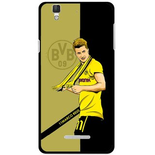 Snooky Printed Sports Player Mobile Back Cover For Coolpad Dazen F2 - Black