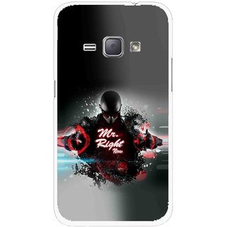 Snooky Printed Mr.Right Mobile Back Cover For Samsung Galaxy J1 - Multicolour