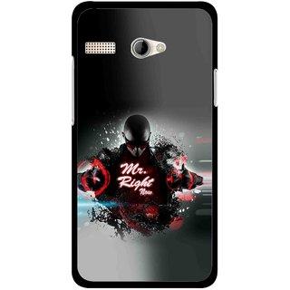 Snooky Printed Mr.Right Mobile Back Cover For Intex Aqua 3G Pro - Multicolour