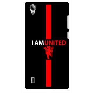 Snooky Printed United Mobile Back Cover For Vivo Y15 - Black