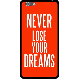 Snooky Printed Never Loose Mobile Back Cover For Oppo R1 - Orange