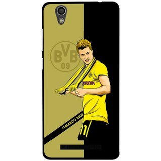 Snooky Printed Sports Player Mobile Back Cover For Gionee F103 - Black