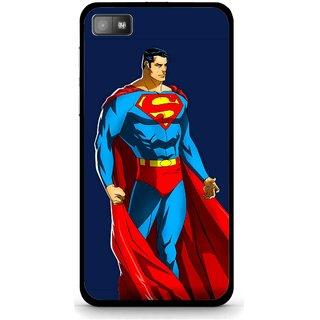 Snooky Printed Super Hero Mobile Back Cover For Blackberry Z10 - Blue