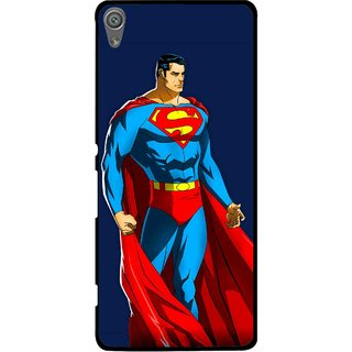 Snooky Printed Super Hero Mobile Back Cover For Sony Xperia XA1 - Blue