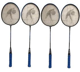Hipkoo Group Rackets (Set Of 4) Blue Strung Badminton Racquet