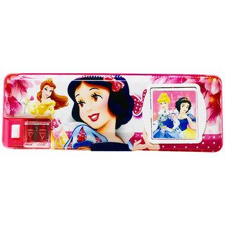 Priyankish Smart Kidz Princess Calculator Pencil Box (Set of 1 Pink)