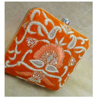orange partywear clutch