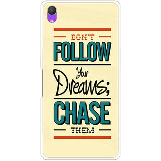 Snooky Printed Chase The Dreams Mobile Back Cover For Sony Xperia Z2 - Yellow