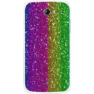 Snooky Printed Sparkle Mobile Back Cover For Micromax Bolt A068 - Multicolour