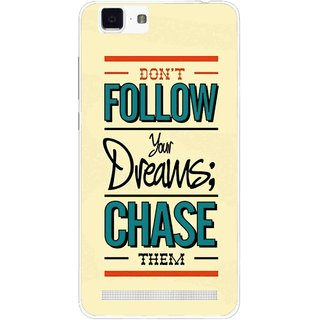 Snooky Printed Chase The Dreams Mobile Back Cover For Vivo X5 Max - Yellow